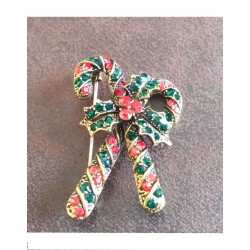 Broche Candy Cane